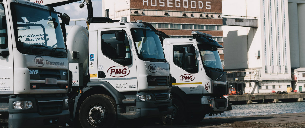 Sweeper trucks parked up - gallery