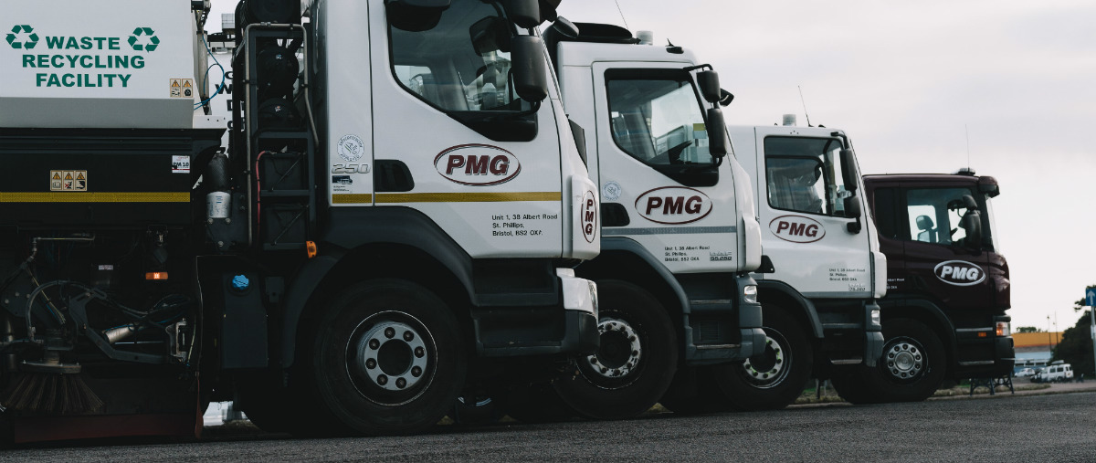 Sweeper trucks parked up