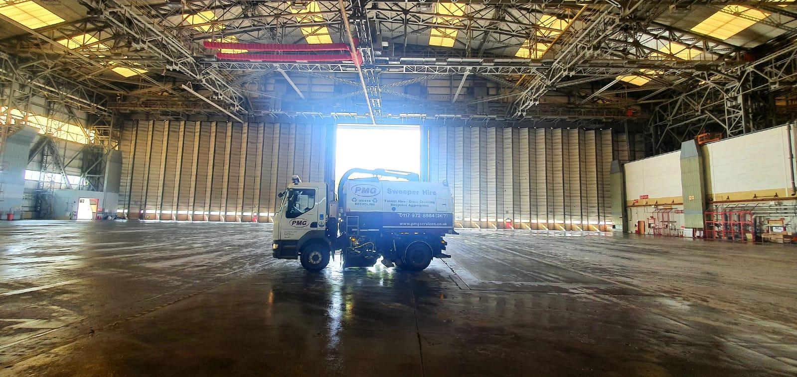 Road sweeper at Brabazon Hangar
